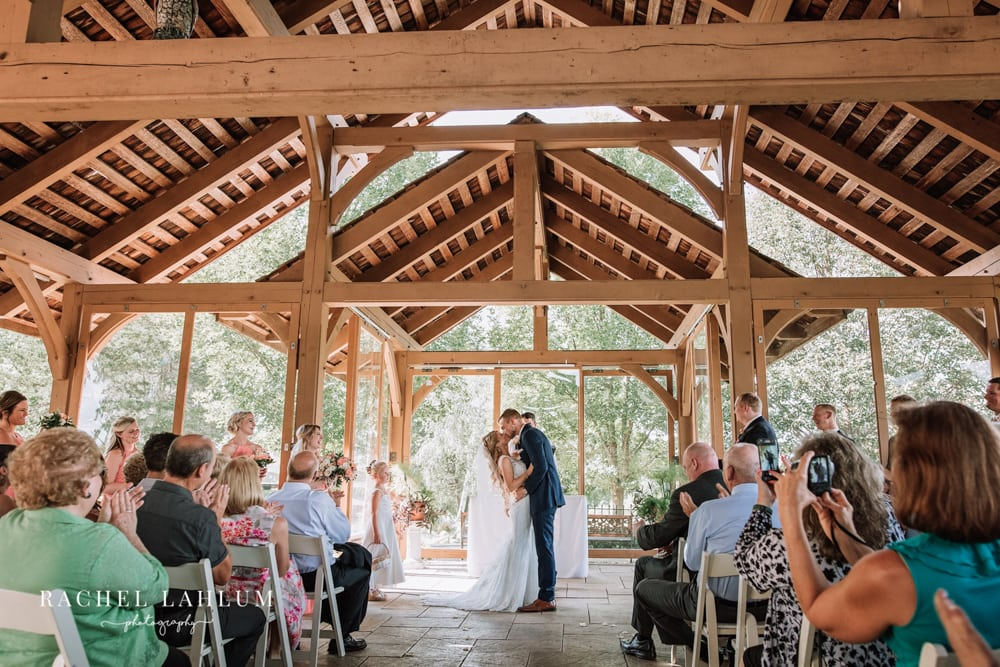 Covered wedding ceremony at Panola Valley Gardens