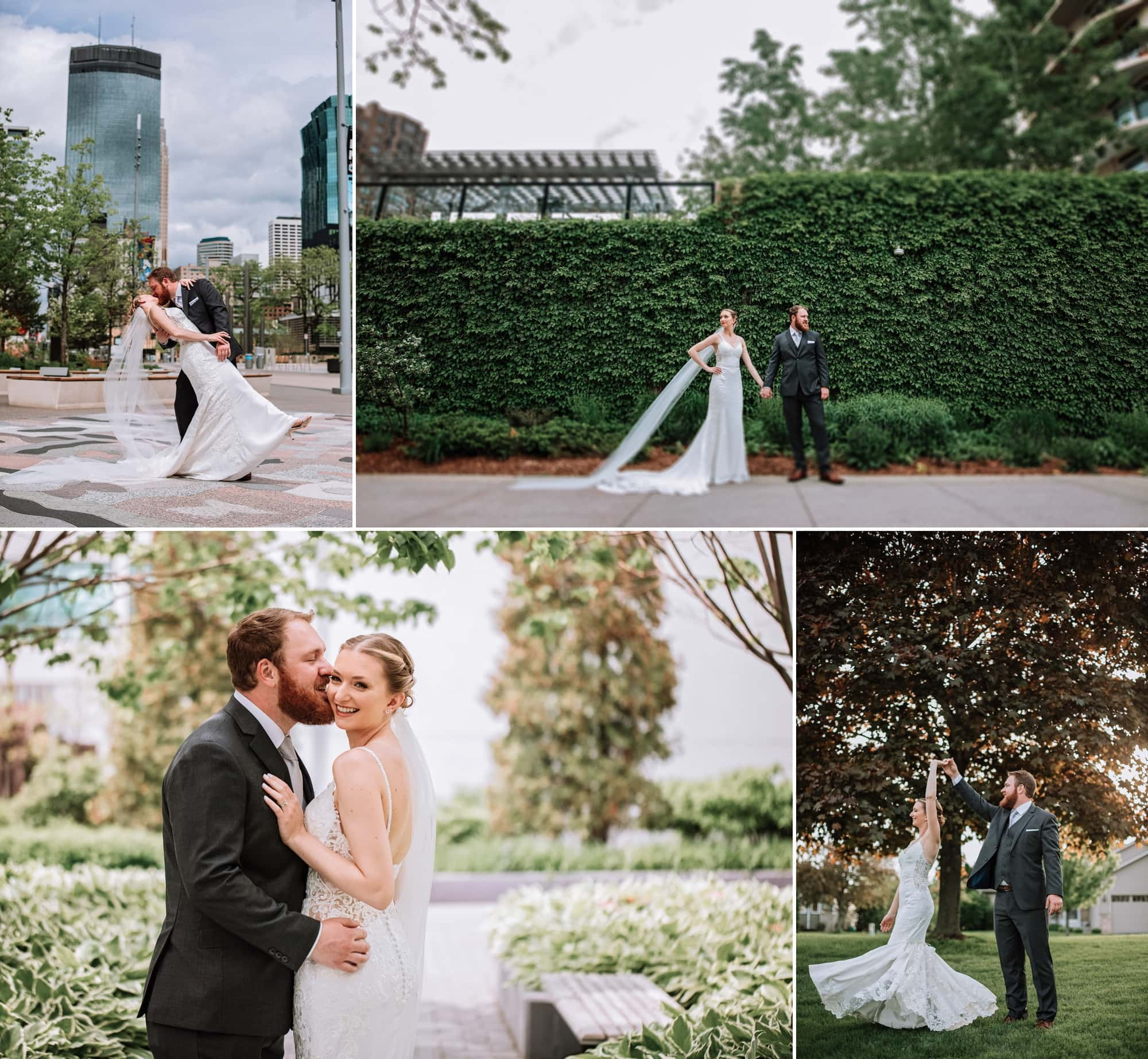 Gallery of wedding photography for Gretchen and Zach's downtown Minneapolis ceremony.
