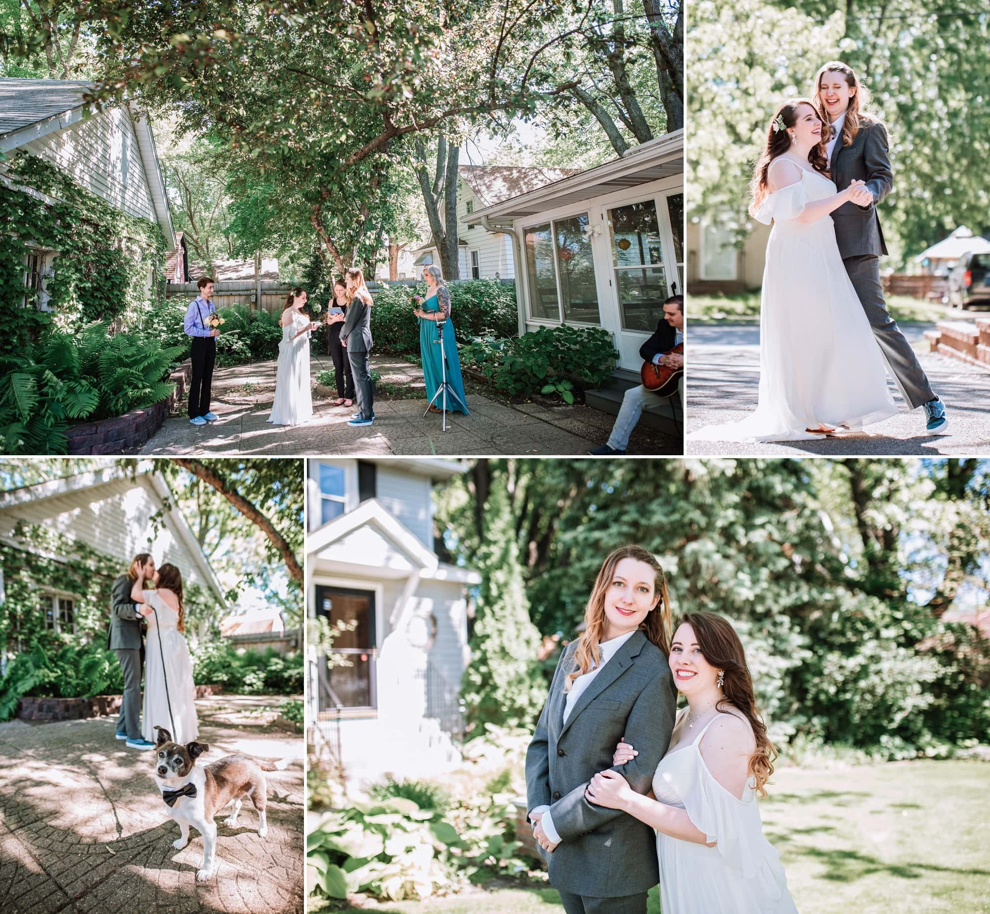 Maggie and LeAnn's micro wedding photos in St. Paul, Minnesota.