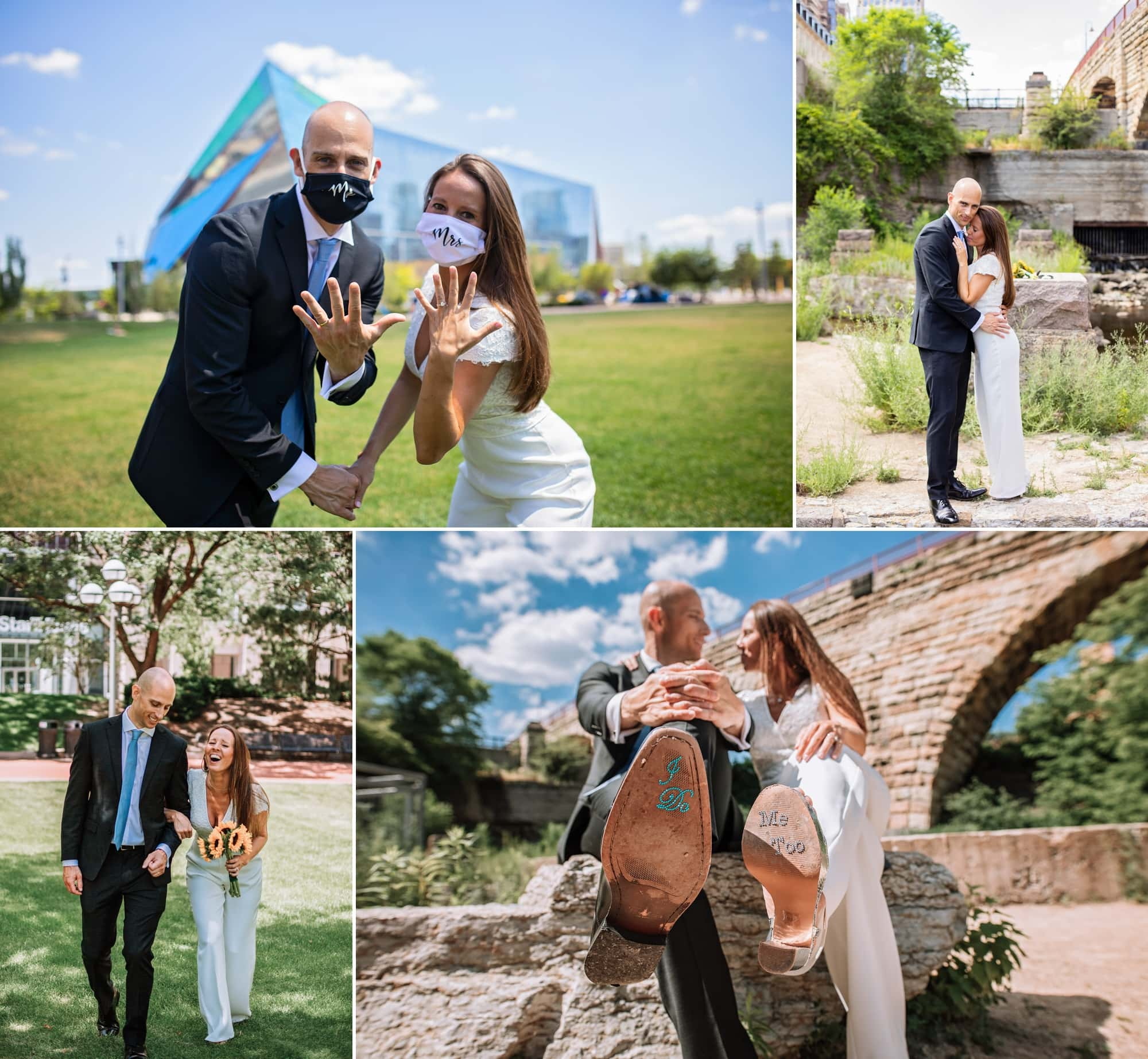 Rick and Carlota's wedding photos for their downtown Minneapolis elopement.