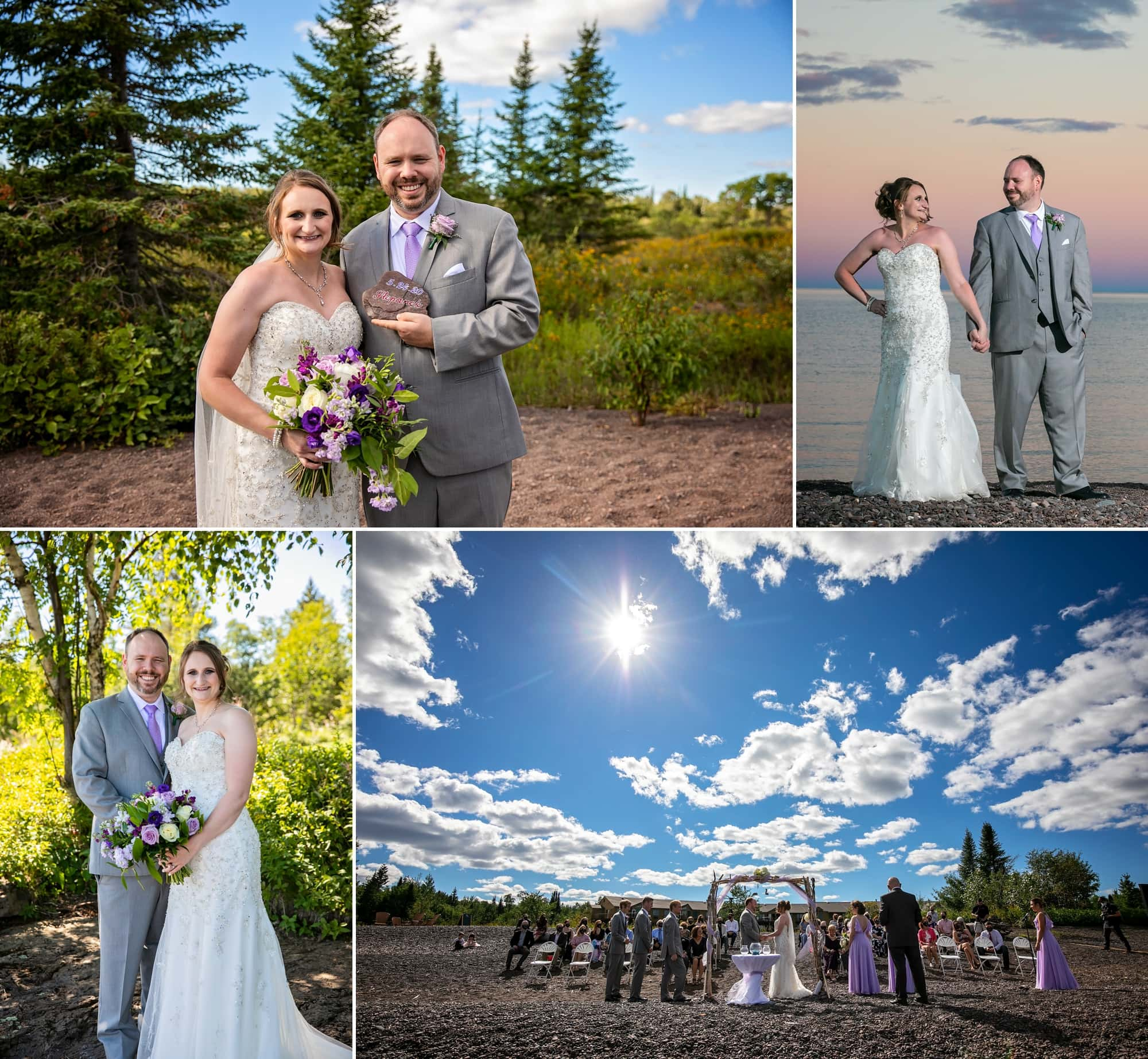 Kristi and Paul's North Shore wedding photos at Superior Shores Resort in Two Harbors, Minnesota.