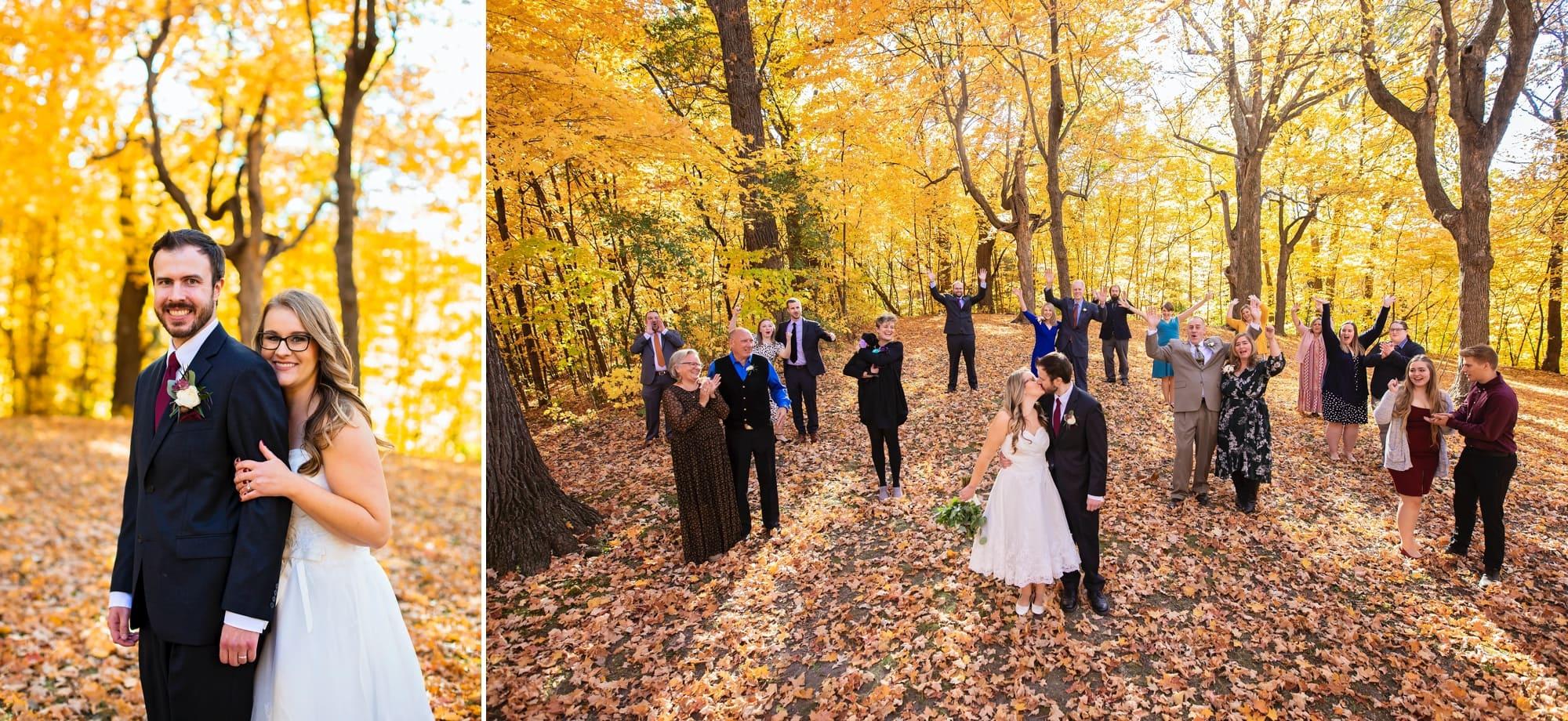 Wedding ceremony photograph at Lake Minnewashta, in Chanhassen, Minnesota.