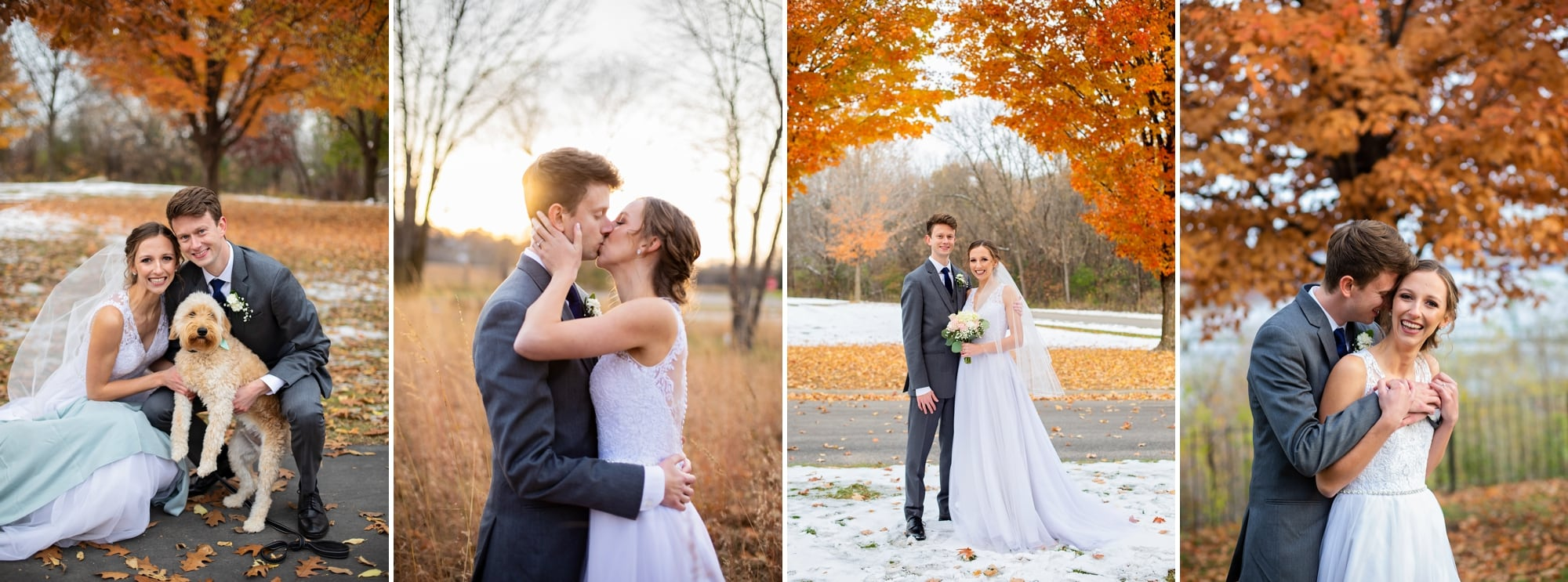 Autumn wedding photo gallery for Christina and Justin at Oak Glen Golf Course.