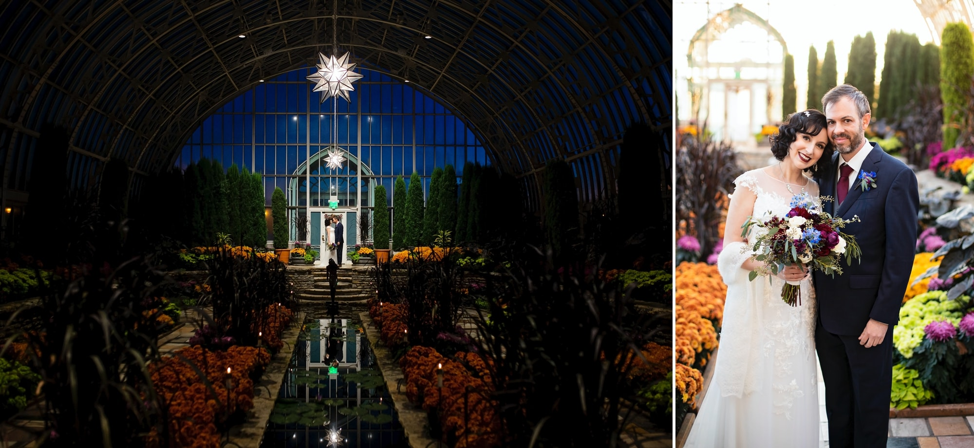 Sarah and Dan's Micro wedding ceremony at Como Conservatory in St. Paul, Minnesota.