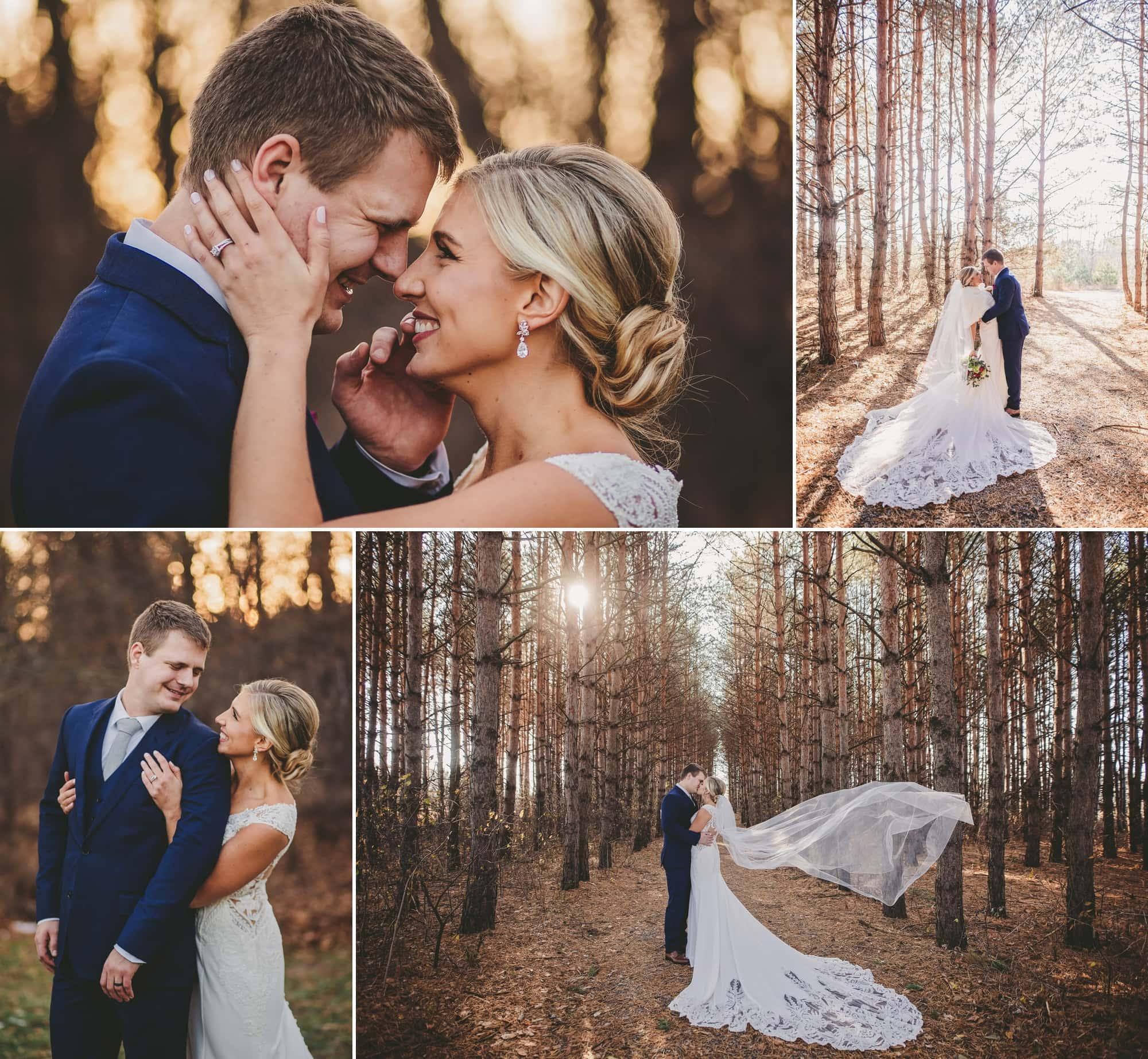 Nicole and Tony's November wedding photos.