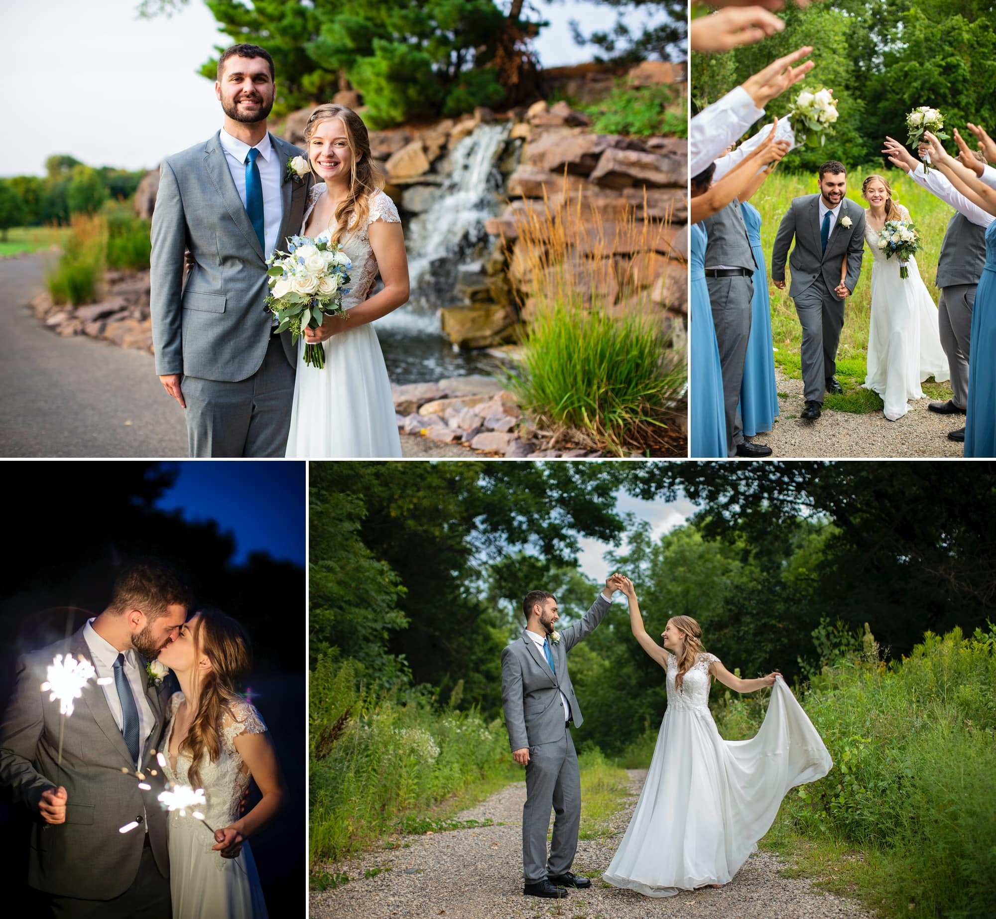 Photographs from Jenna and Joey's wedding at Stonebrook Golf Club in Shakopee, Minnesota.