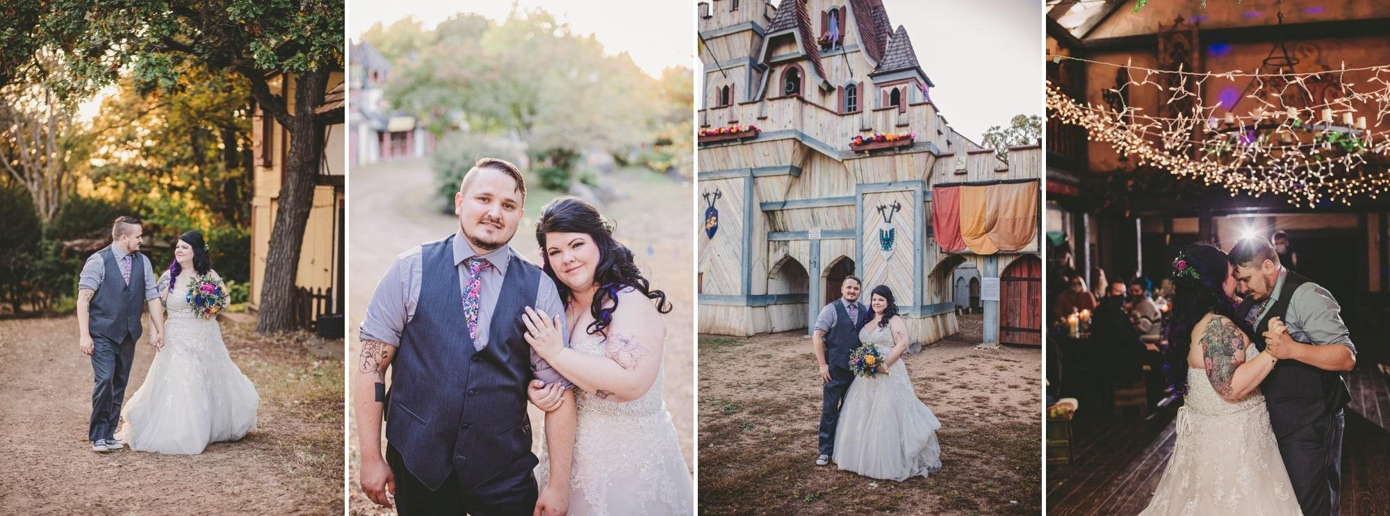Gallery of Taran and Joe's wedding photos at the Renaissance Festival in Shakopee, Minnesota.