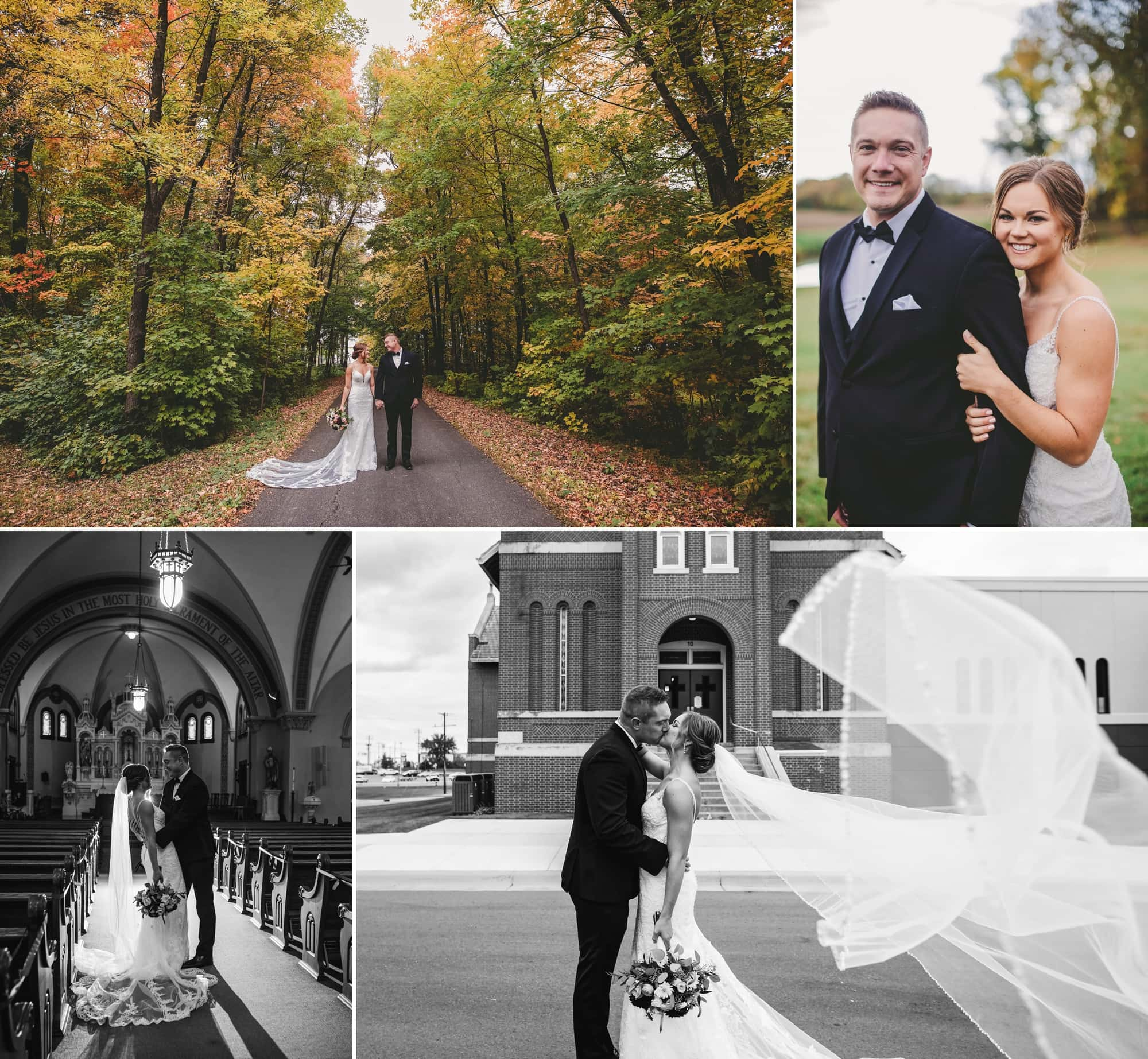Photos of bridee Sara and groom Giles in Rogers, Minnesota