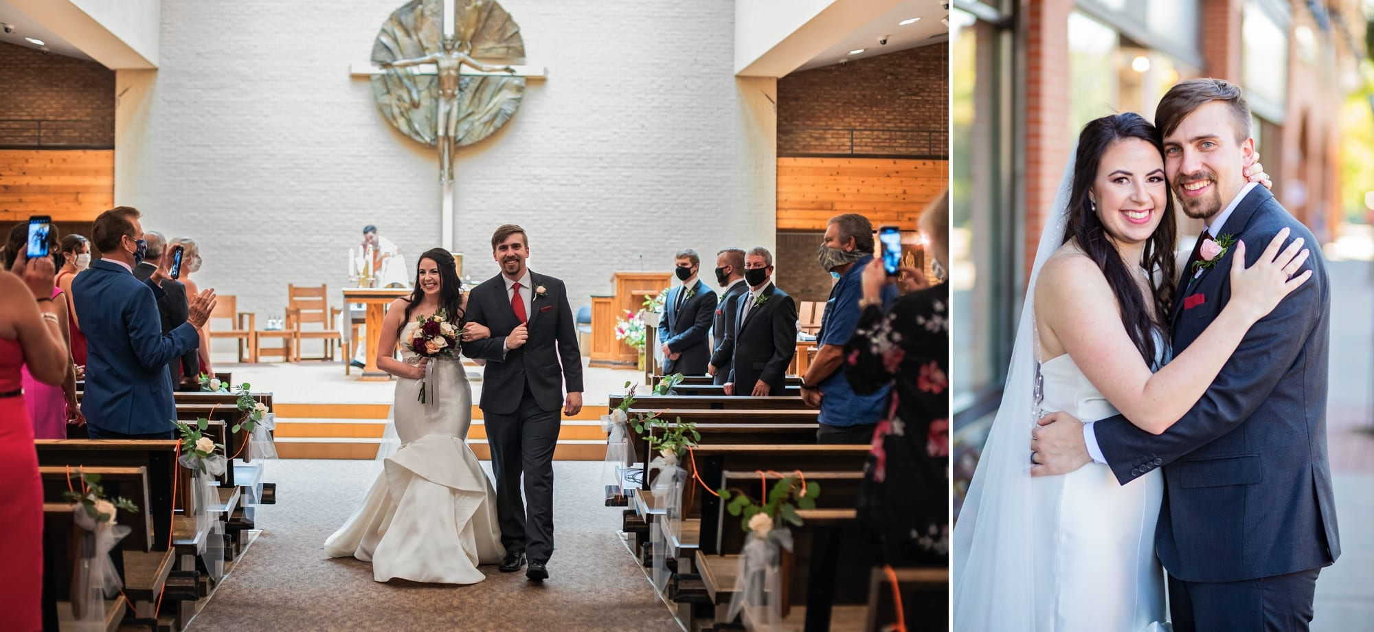 Wedding photography for Erin and Adam's wedding ceremony in Minnetonka, Minnesota.