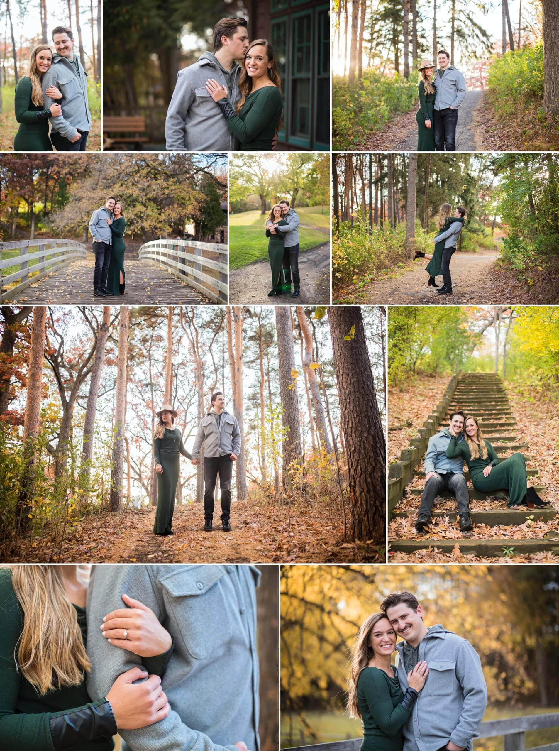 Engagement photography session at Theodore Wirth Park in Minneapolis, Minnesota.