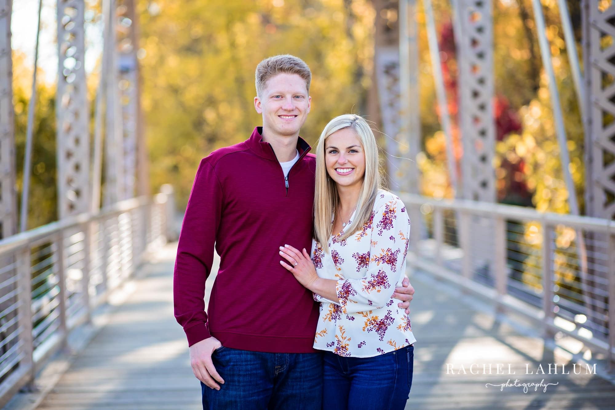 Fall engagement session in Boom Island Park in Northeast Minneapolis.