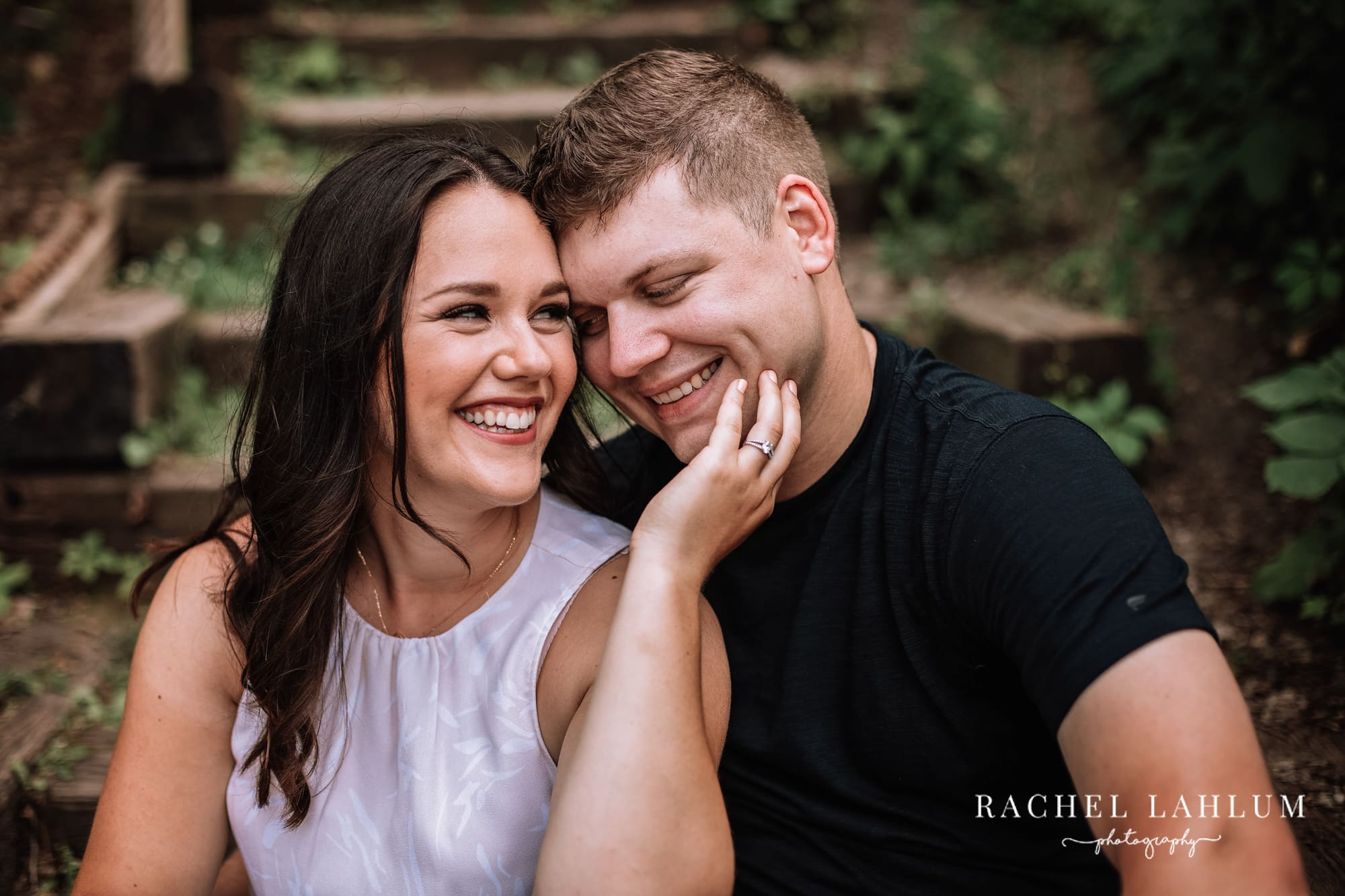 Summer engagement session in Northeast Minneapolis, MN.