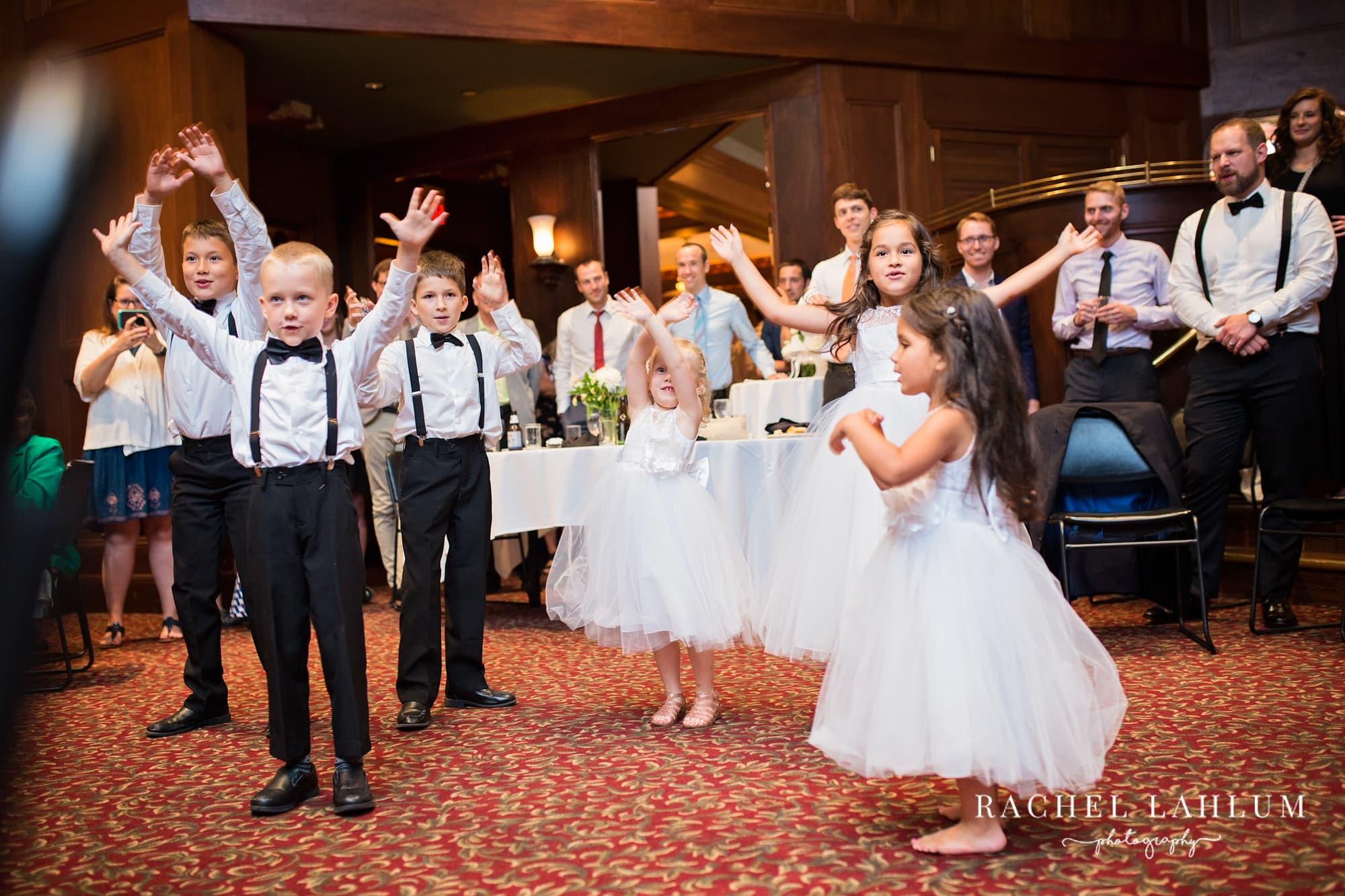Kids dance at the Metropolitan Club & Ballroom in Golden Valley, Minnesota.