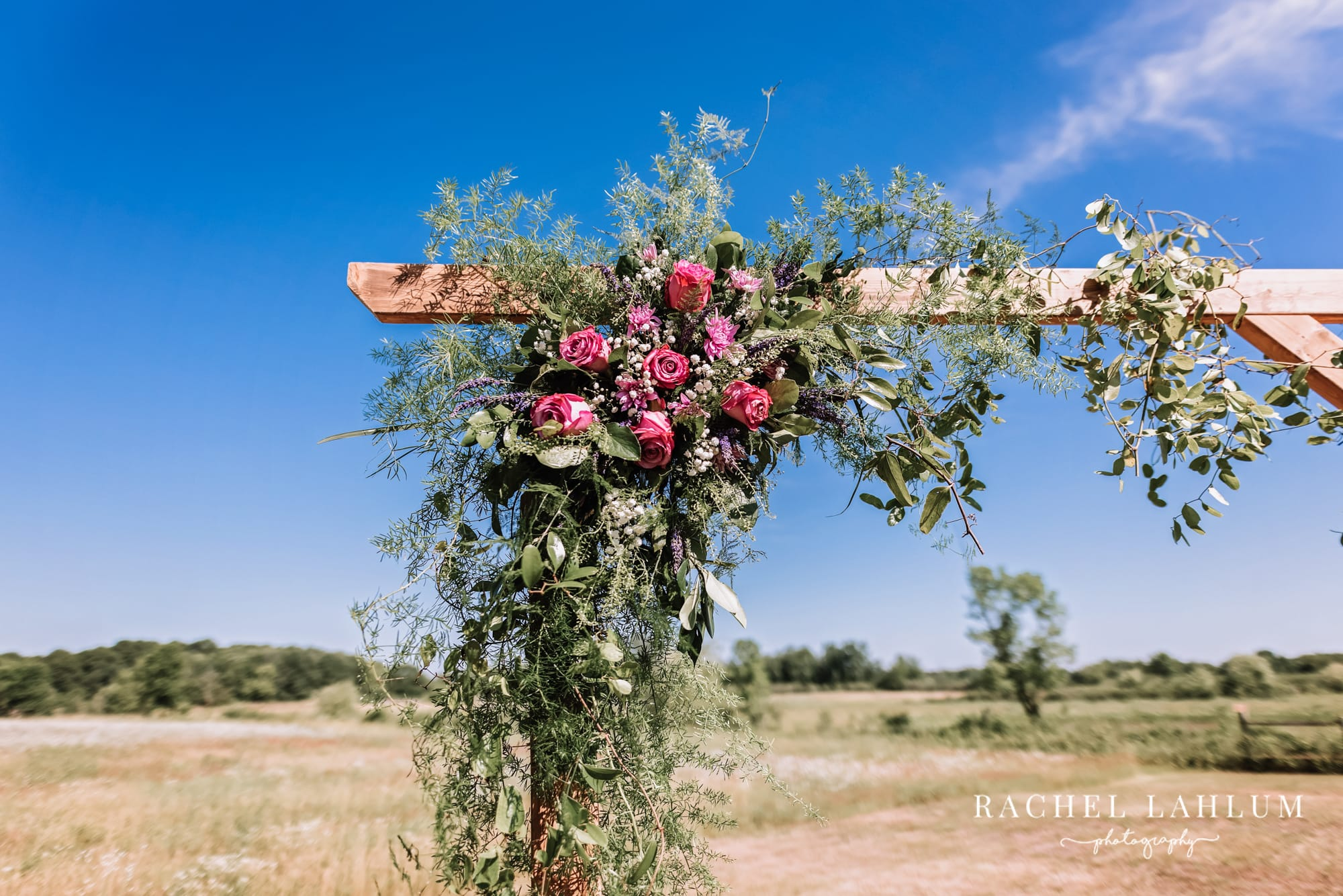 Decorations from Klecker's Kreations at Circle B ranch styled wedding photography shoot.